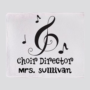 Personalized Choir Director Throw Blanket