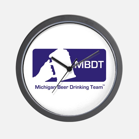 Michigan Beer Drinking Team Wall Clock