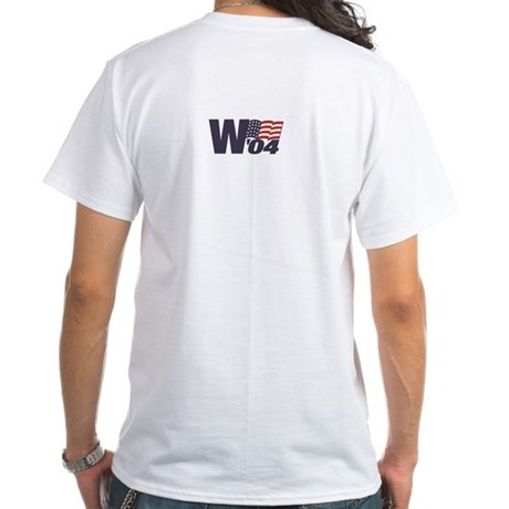 White W'04 Tee (2 Logos)