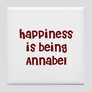 happiness is being Annabel Tile Coaster