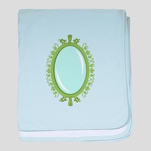 Green Mirror baby blanket