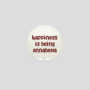 happiness is being Annabella Mini Button