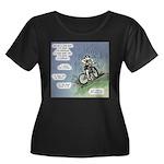 Hard Work Women's Plus Size Scoop Neck Dark T-Shir