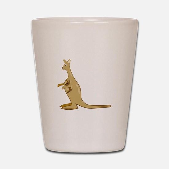 Mama Kangaroo Shot Glass