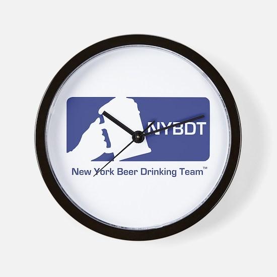 New York Beer Drinking Team Wall Clock