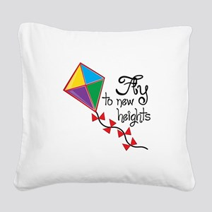 Fly to New Heights Square Canvas Pillow