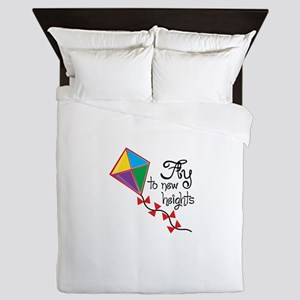 Fly to New Heights Queen Duvet