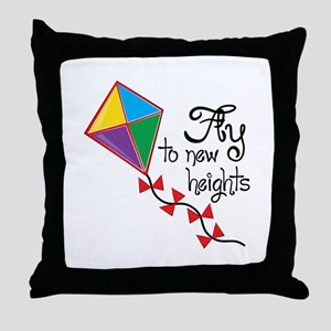 Fly to New Heights Throw Pillow