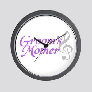 Groom's Mother(clef) Wall Clock
