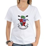 Human Power Women's V-Neck T-Shirt