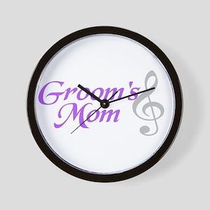 Groom's Mom(clef) Wall Clock