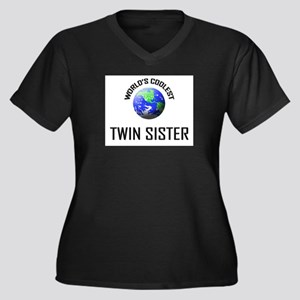 World's Coolest TWIN SISTER Women's Plus Size V-Ne