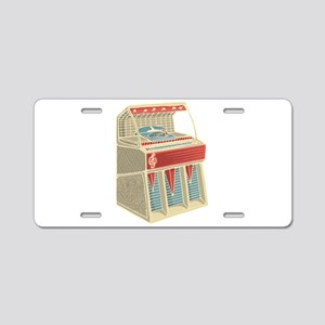 Grunge Retro Jukebox Aluminum License Plate