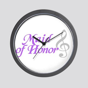 Maid of Honor(clef) Wall Clock