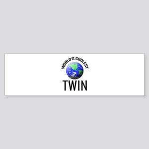 World's Coolest TWIN Bumper Sticker