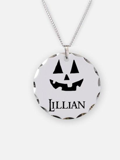 Lillian Halloween Pumpkin face Necklace