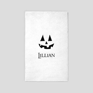 Lillian Halloween Pumpkin face 3'x5' Area Rug