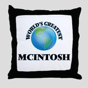 World's Greatest Mcintosh Throw Pillow