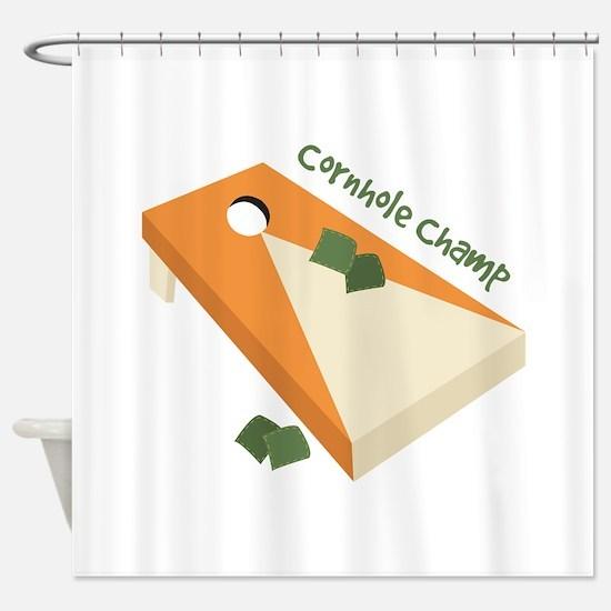 Cornhole Champ Shower Curtain