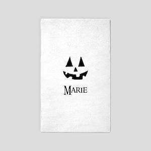 Marie Halloween Pumpkin face 3'x5' Area Rug