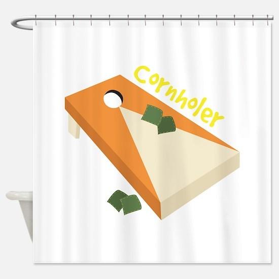 Cornholer Shower Curtain