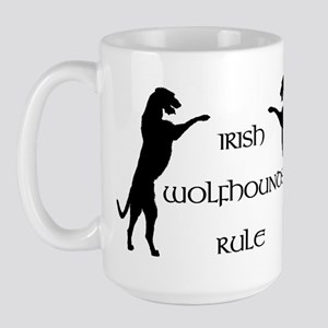 Irish Wolfhounds Rule Large Mug