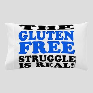 Gluten Free Struggle Blue/Black Pillow Case