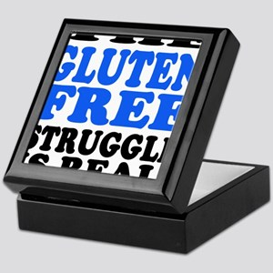 Gluten Free Struggle Blue/Black Keepsake Box