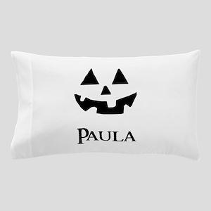 Paula Halloween Pumpkin face Pillow Case