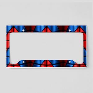 Superheroes - Red Blue License Plate Holder