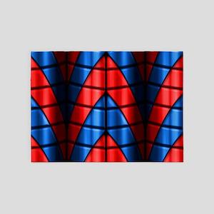 Superheroes - Red Blue 5'x7'Area Rug