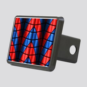 Superheroes - Red Blue Rectangular Hitch Cover
