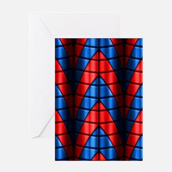 Superheroes - Red Blue Greeting Card