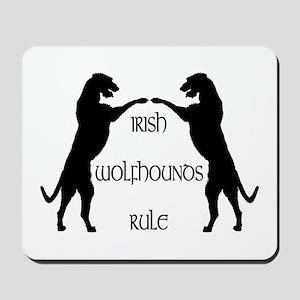 Irish Wolfhounds Rule Mousepad