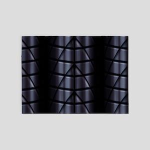Superheroes - Black 5'x7'Area Rug