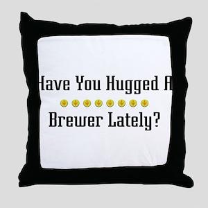 Hugged Brewer Throw Pillow