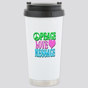 PEACE LOVE PERSONALIZE Travel Mug