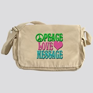 PEACE LOVE PERSONALIZE Messenger Bag