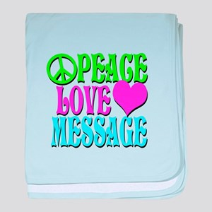 PEACE LOVE PERSONALIZE baby blanket