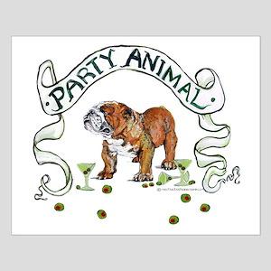 Bulldog Party Animal Small Poster