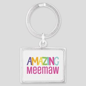 Amazing Meemaw Landscape Keychain