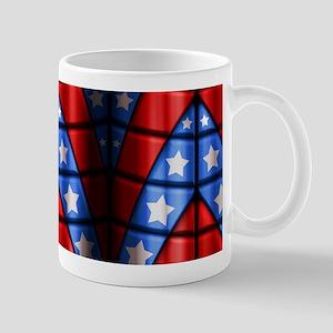 Superheroes - Red Blue White Stars Mug
