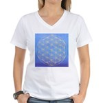 FLOWER OF LIFE Women's V-Neck T-Shirt