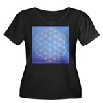 FLOWER OF LIFE Women's Plus Size Scoop Neck Dark T