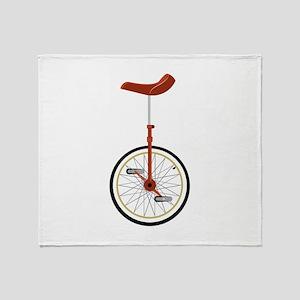 Unicycle Throw Blanket