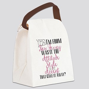 New Jersey Girl (Pink) Canvas Lunch Bag