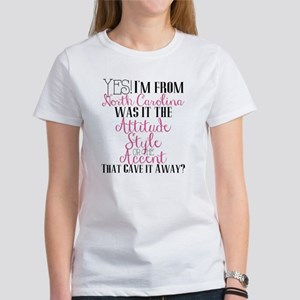 North Carolina Girl (Pink) Women's T-Shirt