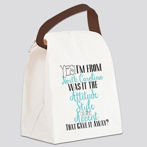 North Carolina Girl (Blue) Canvas Lunch Bag