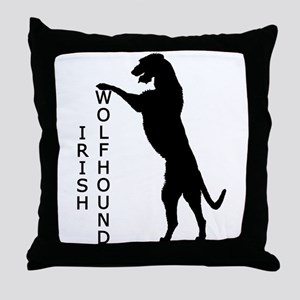 Tall Irish Wolfhound Throw Pillow