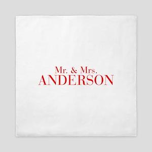 Mr Mrs ANDERSON-bod red Queen Duvet
